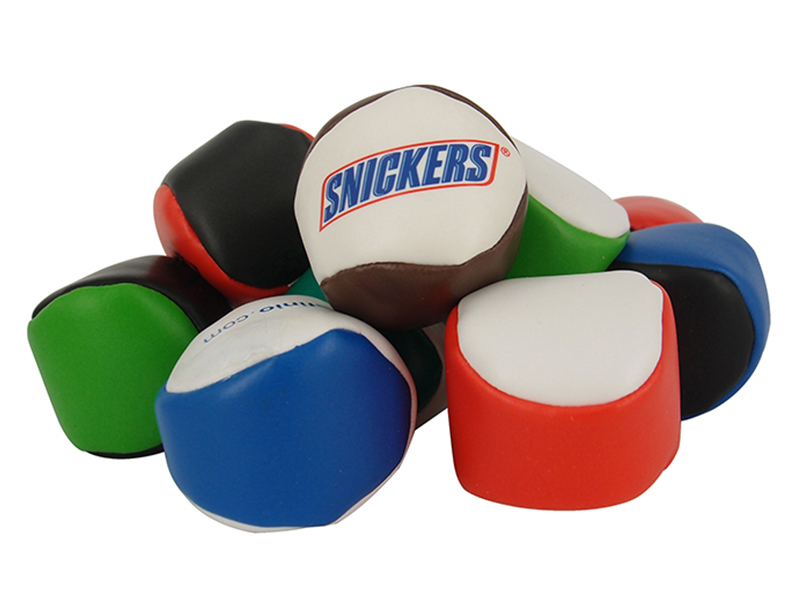 Wholesale 2 Panels Hacky Sack PVC Leather Footbag