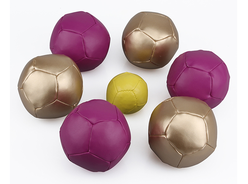 Classic Toss PVC Leather Boccia Ball Set with Carrying Bag